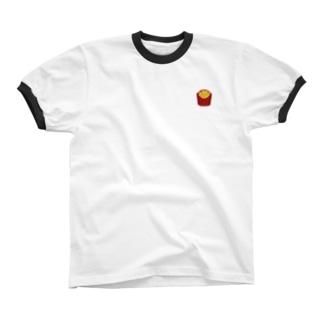 ポテト Ringer T-shirts