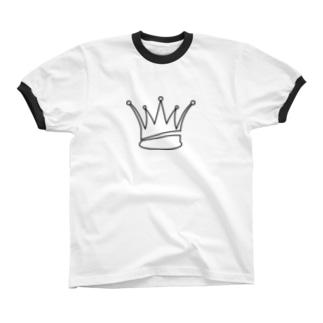 王冠ロゴマーク リンガーTシャツ