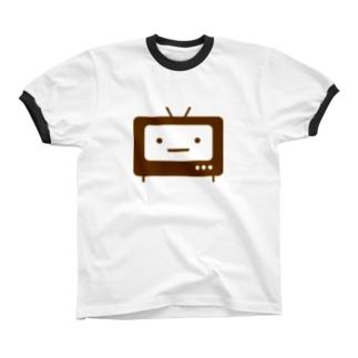 テレビロゴマーク リンガーTシャツ