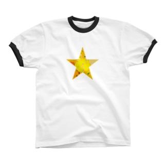 ごちゃごちゃほし Ringer T-shirts