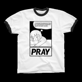 POTAGEのAgirlZ_P Ringer T-shirts