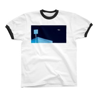 Sky-Fly[Night]  リンガーTシャツ