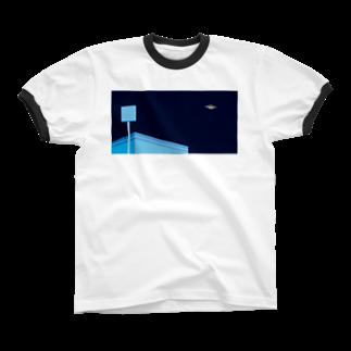 POTAGEのSky-Fly[Night]  リンガーTシャツ