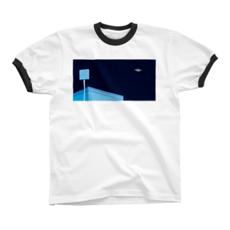 POTAGEのSky-Fly[Night]  Ringer T-shirts