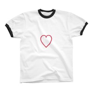 heart t  リンガーTシャツ