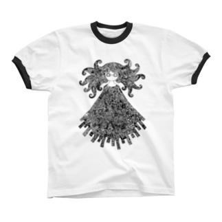 めめ Ringer T-shirts