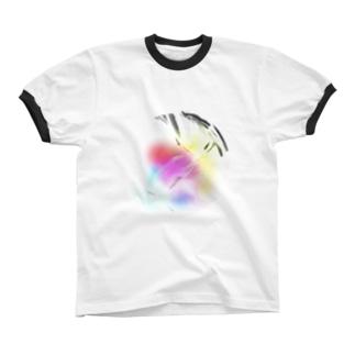 レインボウ クリスタル リンガーTシャツ