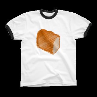 ロゴラボの食パンロゴマーク Ringer T-shirts
