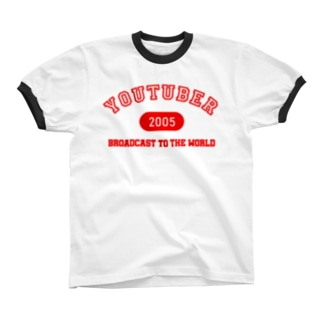 YOUTUBER(赤) Ringer T-shirts