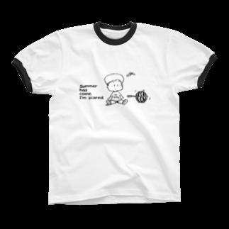 egu shopの(わーくわくシリーズ)テニス Ringer T-shirts