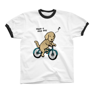 bicycle 2 リンガーTシャツ
