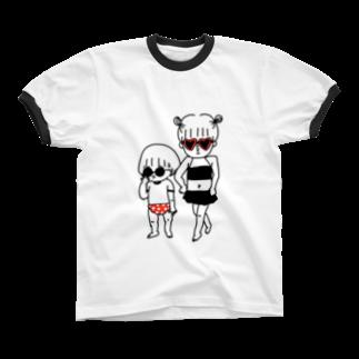 こいしさんのふたりサマー Ringer T-shirts