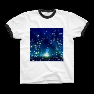 灯さかすの蛍。 Ringer T-shirts