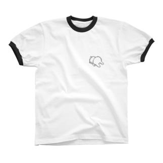 ごめんねうさぎ Ringer T-shirts
