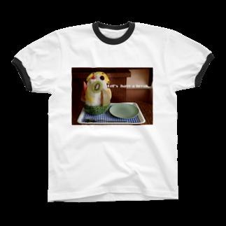 高田万十のLet's have a break. リンガーTシャツ