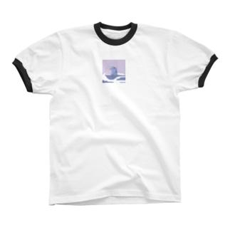 また、こぼしちゃった… リンガーTシャツ