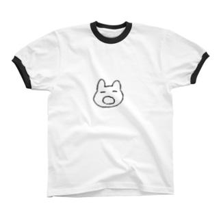 あくびうさぎ リンガーTシャツ