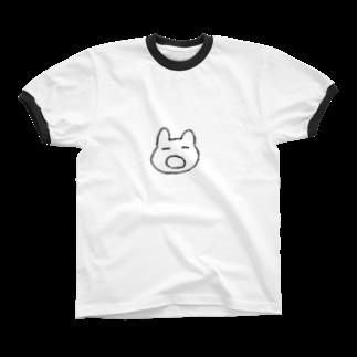 どせいのわっかのあくびうさぎ Ringer T-shirts
