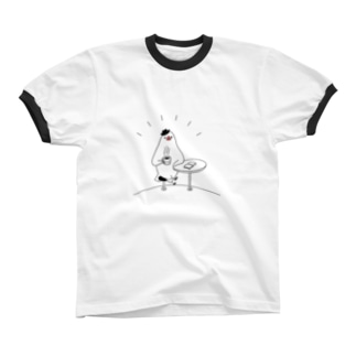 [BUNNNKO CAFE ] 文鳥 Ringer T-shirts