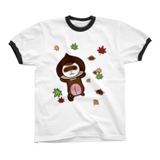 栗フェレット(セーブル) リンガーTシャツ