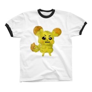 ビットコインチュウ Ringer T-shirts