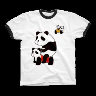 チョッちゃんのパンダカー リンガーTシャツ