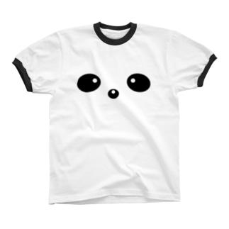 ぱんだのかお Ringer T-shirts
