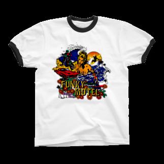 JOKERS FACTORYのFUNKY MOTEL リンガーTシャツ