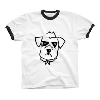 pecoじい_さだくろう リンガーTシャツ
