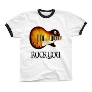 ROCK YOU 背景透過 Ringer T-shirts