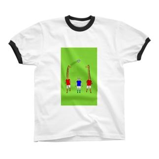 キリンのパス リンガーTシャツ