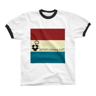 なにがでるかな Ringer T-shirts