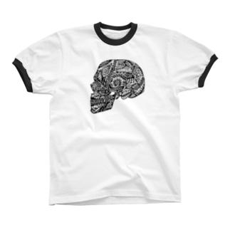 髑髏 Ringer T-shirts