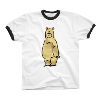 くまお Ringer T-shirts