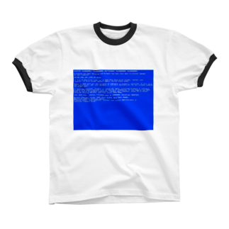 Desktop LabのBSOD(Blue Screen of Death) リンガーTシャツ