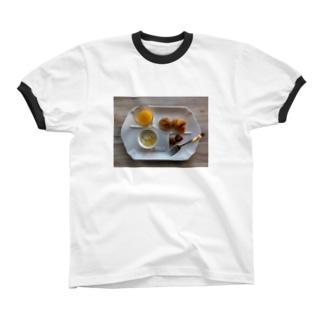 センスのないビュッフェ リンガーTシャツ
