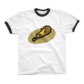 無気力な謎の生き物 リンガーTシャツ