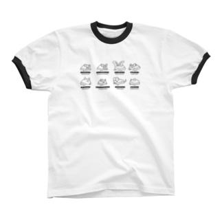 Bat Company(モノクロ) リンガーTシャツ