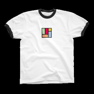 minato128のカラフル四畳半 Ringer T-shirts
