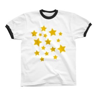 星ぱらぱら リンガーTシャツ