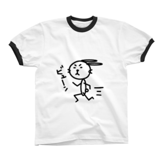 はしる リンガーTシャツ