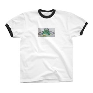 おふろどっとこむキャラクター「ふろざわ♨️ゆざえもん」 リンガーTシャツ