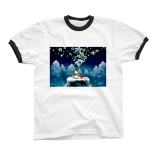 星屑 Ringer T-shirts