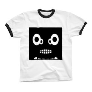 【 黒鬼: Black demon 】WFドアップ リンガーTシャツ