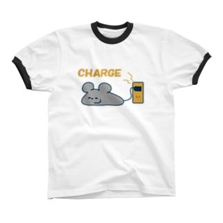 ネズミくんcharge リンガーTシャツ