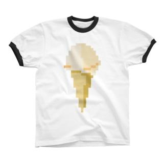 バニラアイスクリーム リンガーTシャツ