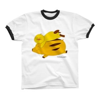 のはし猪突猛進2019 Ringer T-shirts
