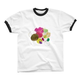 あんみつ Ringer T-shirts