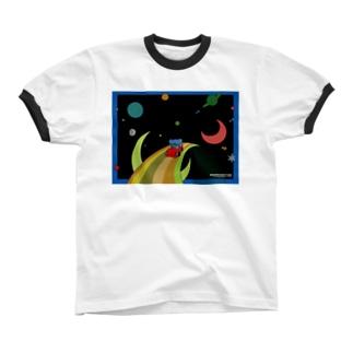 マーキントン @スペース Ringer T-shirts