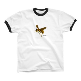 蜂の一刺し リンガーTシャツ